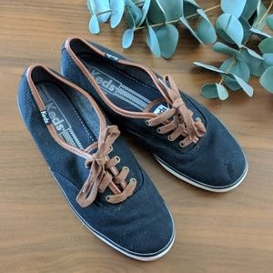 Keds Solid Navy Tan Classic Shoes Sneakers 7